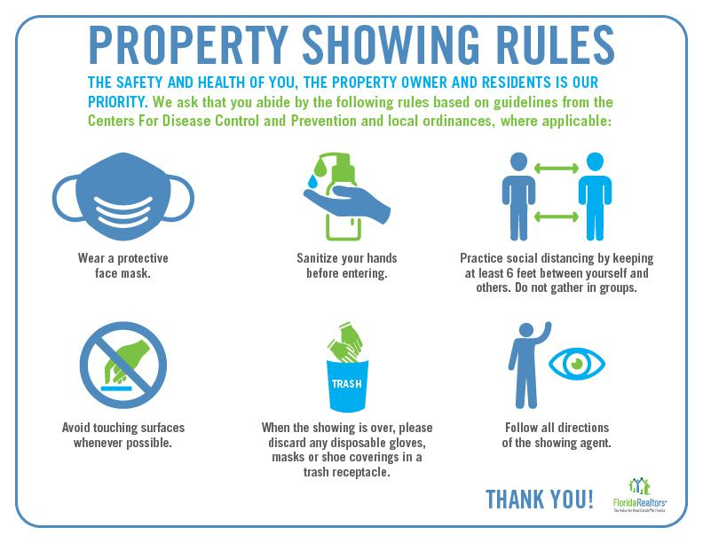 COVID-19 PROPERTY SHOWING RULES